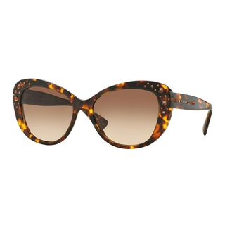 Versace Women's VE4309B Tortoise Plastic Cat Eye Sunglasses