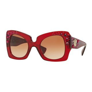 Versace Women's VE4308B 54 Red Plastic Butterfly Sunglasses