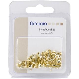 "Artemio .12"" Mini Round Brads 100/Pkg-Gold"