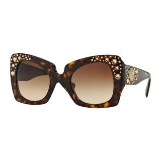 Versace Women's VE4308B 108/13 Tortoise Plastic Butterfly Sunglasses