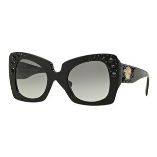 Versace Women's VE4308B 54 Black Plastic Butterfly Sunglasses