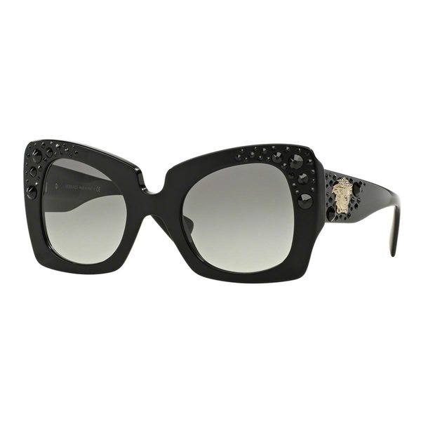 8f596792244 Versace Women  x27 s VE4308B 54 Black Plastic Butterfly Oversized Sunglasses