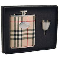 Visol Gabriella Plaid Wrap Legacy Flask Gift Set - 6 ounces