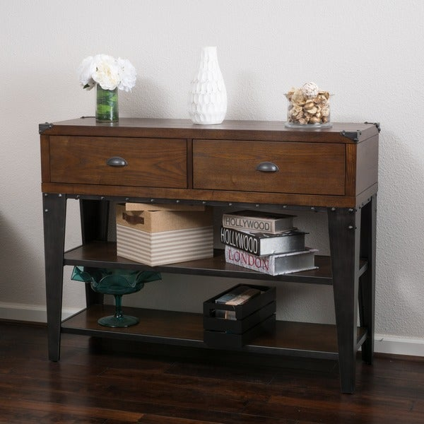 Shop quinn wood console table by christopher knight home