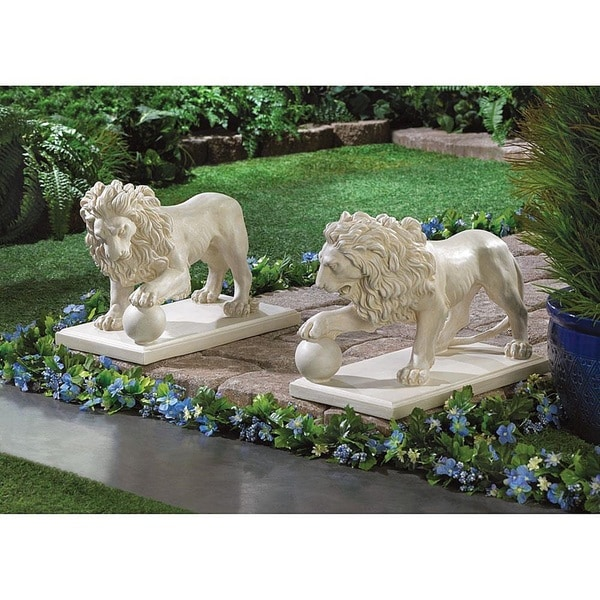 Attractive Elegant Outdoor Lion Sculptures   Free Shipping Today   Overstock.com    17882617