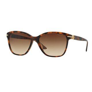 Versace Women's VE4290BA Tortoise Plastic Square Sunglasses