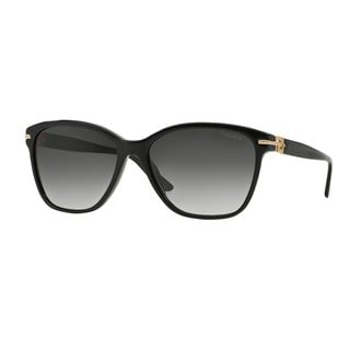 Versace Women's VE4290BA GB1/8G Black Plastic Square Sunglasses