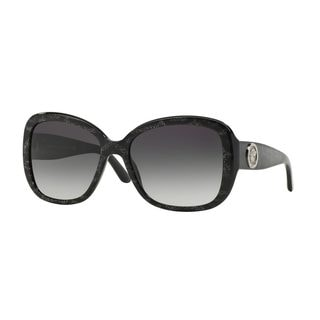 Versace Women's VE4278BA Black Plastic Square Sunglasses