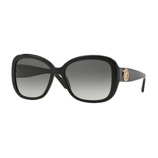 Versace Women's VE4278BA Black Plastic Square Sunglasses