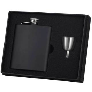 Visol Raven Black Matte Legacy Flask Gift Set - 8 ounces