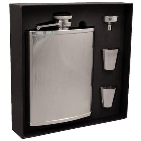 Visol Cyclops Barley Pattern Stainless Steel Jumbo Flask Gift Set - 18 ounces