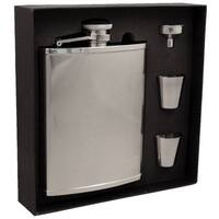 Visol Cyclops Barley Pattern Stainless Steel Jumbo Flask Gift Set - 18 ounces