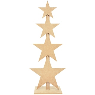 Beyond The Page MDF Star Tree-20inX8inX6in