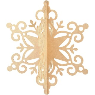 Beyond The Page MDF Hanging Snowflake Ornament-11inX9.5inX9.5in