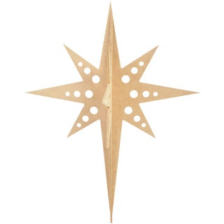 Beyond The Page MDF Hanging Star Ornament-14.25inX11inX11in