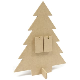 Beyond The Page MDF Days 'Til Christmas Countdown Tree-12.125inX9.75inX3.875in
