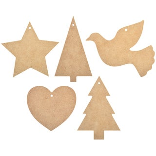 Beyond The Page MDF Christmas Garland Cut-outs 5/Pkg-5.5inX3.25in