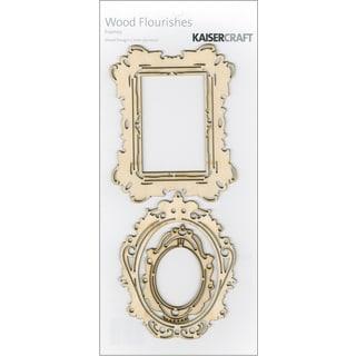 Wood Flourishes 3/Pkg-Frames
