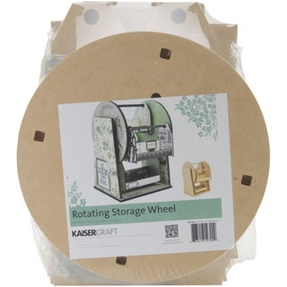 Beyond The Page MDF Rotating Storage Wheel-11inX13.75inX10in