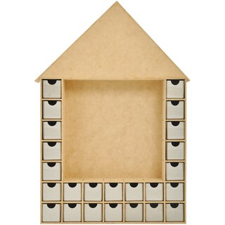 Beyond The Page MDF Shadow Box Advent House Calendar-19.25inX13inX2in