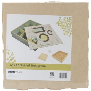 Beyond The Page MDF Divided Storage Box-11inX11inX2.5in
