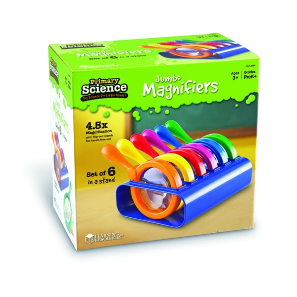 Learning Resources Primary Science Jumbo Magnifiers (Set of 6)