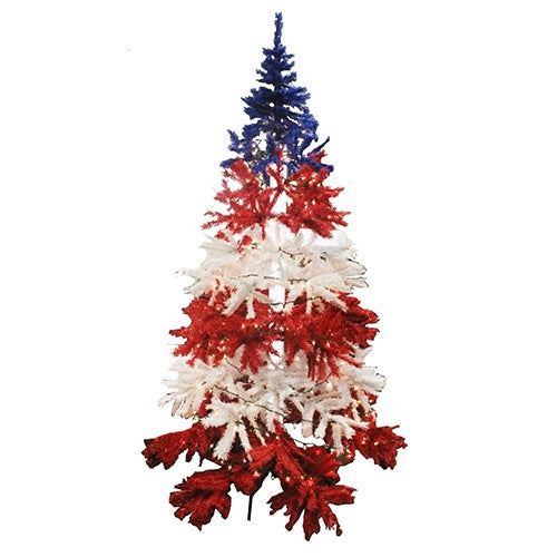 8 foot patriotic christmas tree - Red White And Blue Christmas Tree