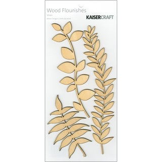 Wood Flourishes 3/Pkg-Vines