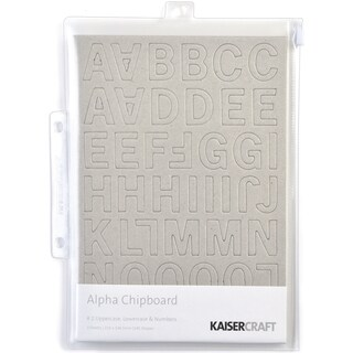Chipboard Alphabet #2 8.25inX5.75in Sheets 3/Pkg-.875in Uppercase, Lowercase & Numbers