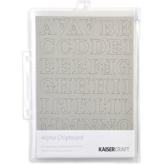 Chipboard Alphabet #1 8.25inX5.75in Sheets 3/Pkg-.875in Uppercase, Lowercase & Numbers