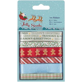 Papermania Jolly Santa Ribbon 1m 6/Pkg|https://ak1.ostkcdn.com/images/products/10841420/P17882841.jpg?impolicy=medium