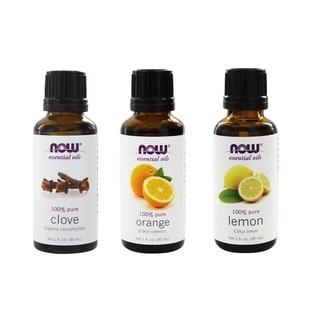 Now Foods Essential Oils Pack of 3 (Clove, Lemon, Orange)