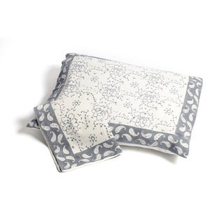 Handmade Chain Pattern Pillow Sham - Grey (Set of 2) Standard (India)