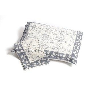 Chain Pattern Pillow Sham - Grey (Set of 2) Standard (India)