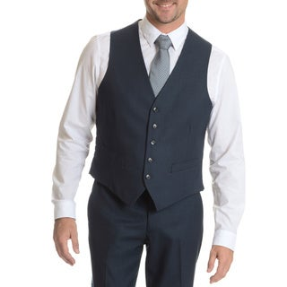 Perry Ellis Men's Vest Suit Separate Blue