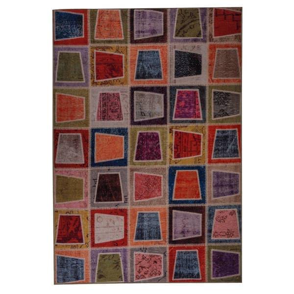 Handmade Burs Vintage Print Rug (India). Opens flyout.