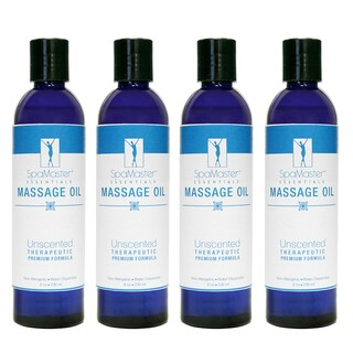 Master Massage 8-ounce Unscented Oil (Pack of 4)