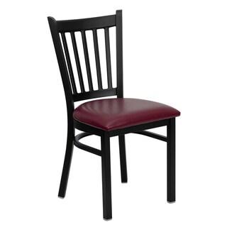 HERCULES Series Vertical Back Metal Restaurant Chair - Vinyl Seat