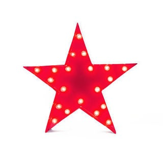 Indoor/ Outdoor Commercial Grade 2 ft. Red Steel Star Profession/Commercial MarqueeLight