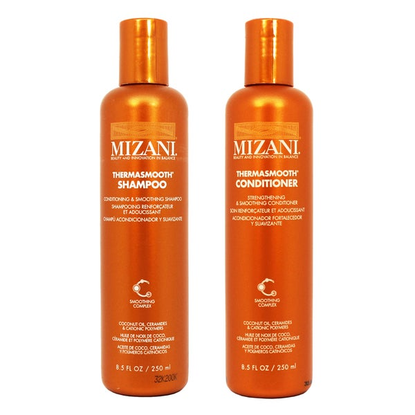 Mizani Thermasmooth 8 5 Ounce Shampoo And Conditioner Set