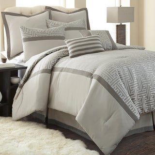 Amraupur Overseas Mercer Microfiber 8-piece Comforter Set