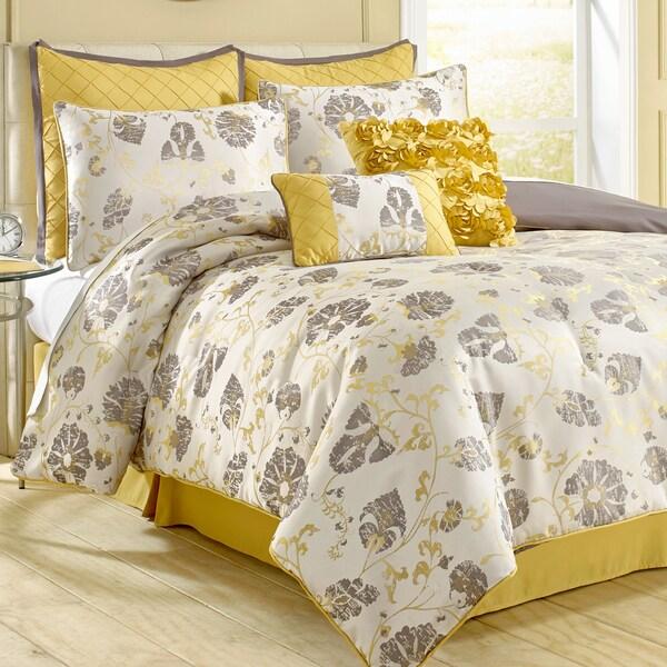 Amraupur Overseas Vintage Floral 8-piece Comforter Set