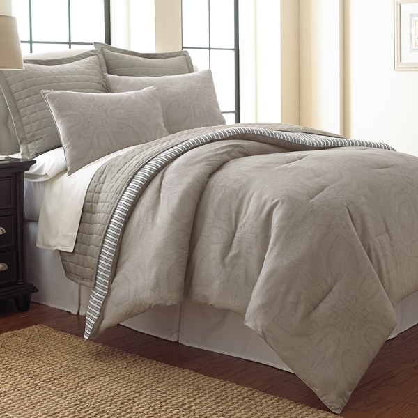Amraupur Overseas Harper Paisley Reversible 6-piece Comforter and Coverlet Set