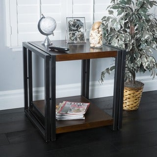 Mayfair Dark Oak Wood End Table by Christopher Knight Home