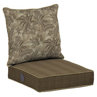 Bombay® Outdoors Palmetto Mocha Reversible Deep Seat Cushion Set with Adjustable Comfort Technology