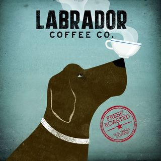 Ryan Fowler 'Labrador Coffee Co' Gallery Wrapped Canvas
