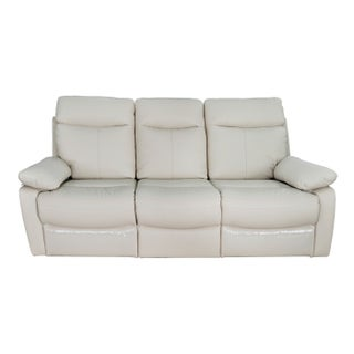 Ryker Leather Reclining Sofa (Option: Taupe)
