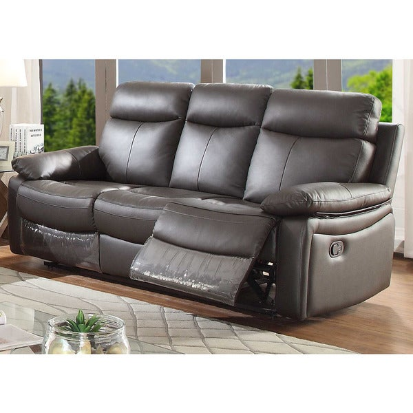 Shop Ryker Leather Reclining Sofa - On Sale - Overstock ...