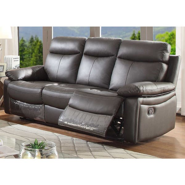 Shop Ryker Leather Reclining Sofa - On Sale - Free Shipping ...