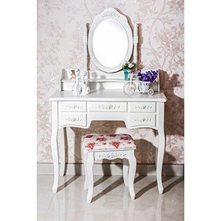 7-drawer Vanity Table with Chair